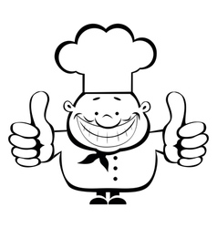 smiling chef vector image