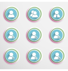 User buttons vector image vector image
