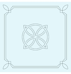 Abstract circular symbol vector image
