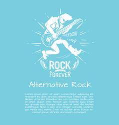 alternative rock music forever vector image vector image