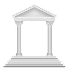 ancient roman temple with steps and columns vector image vector image