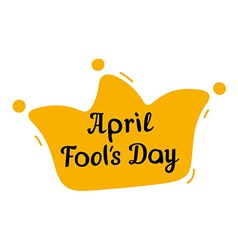 April Fools Day design with jester hat and text vector image vector image