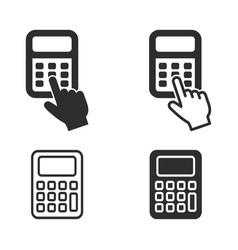 calculator icon set vector image vector image