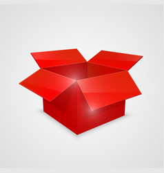 color open box red vector image vector image