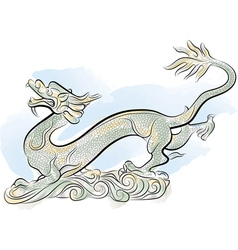old chinese traditional dragon vector image vector image