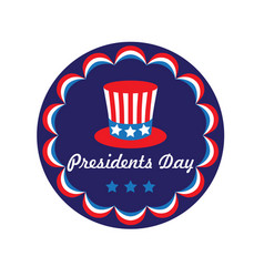 presidents day top hat in circle frame g vector image