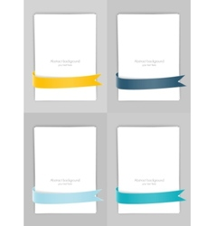 Set of banners with ribbons vector image vector image