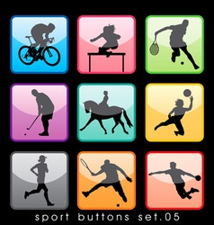 sport buttons 05 vector image vector image