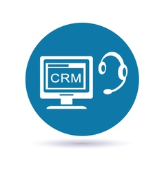 customer relationship management system vector image vector image