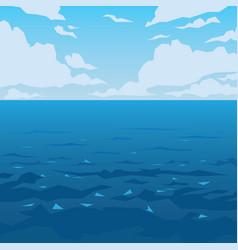 sea or ocean landscape vector image