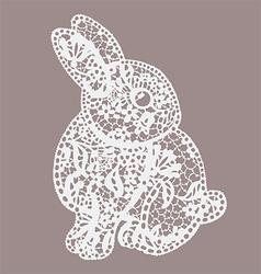 Vintage lace bunny vector