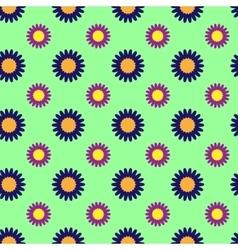Flowers geometric seamless pattern 804 vector image