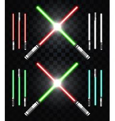 Light swords Star war Laser weapons laser sword vector image