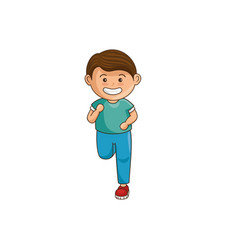 little boy athlete character vector image vector image