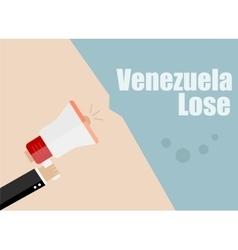 Venezuela lose Flat design business vector image