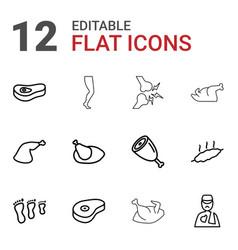 12 leg icons vector