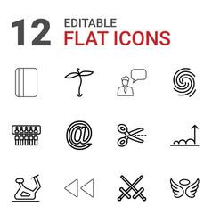 12 symbol icons vector