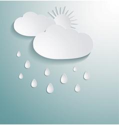 Abstract 3d paper cloud vector