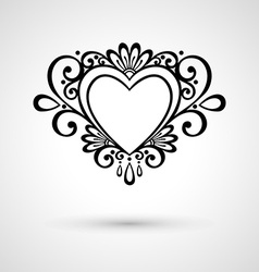 Abstract heart design vector image