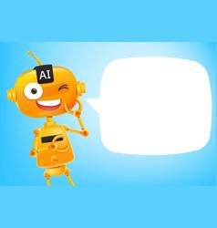 ai robot cartoon 002 vector image
