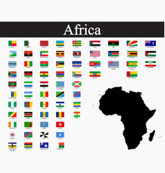 all flags africa world flags vector image