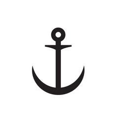anchor icon graphic design template vector image