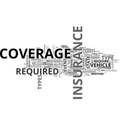 Auto insurance explained text word cloud concept vector