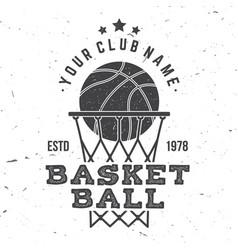 Basketball club badge vector