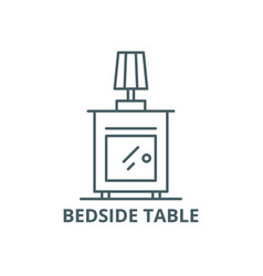 bedside table line icon bedside table vector image