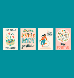body positive templates happy plus size vector image