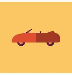 Cabriolet Transportation Flat Icon vector image