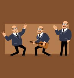 Cartoon flat professor man character set vector