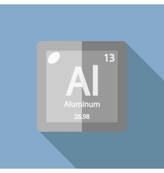 Chemical element Aluminum Flat vector image