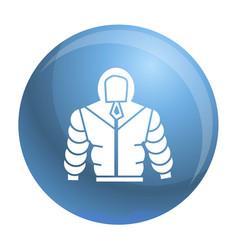 Climb mountain clothes icon simple style vector