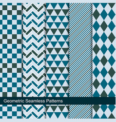 collection geometric seamless patterns vector image