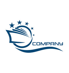 cruise liner logo vector image