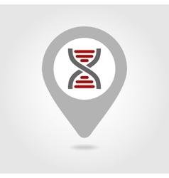 Dna map pin icon vector