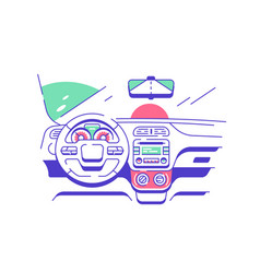 Driver seat in modern car vector