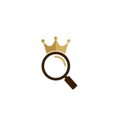find king logo icon design vector image