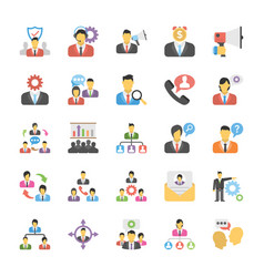 flat icons set of human resource vector image