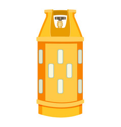 Gas container with regulator compressed vector