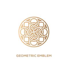 Geometric emblem vector