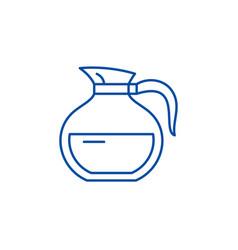 glass teapot line icon concept glass teapot flat vector image