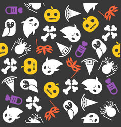halloween seamless pattern flat design vector image