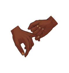 hand holding little finger vector image