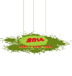 Happy New year paint drip vector image