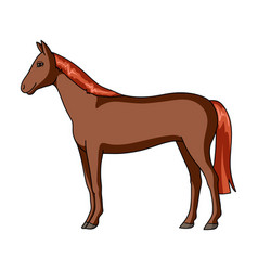 horseanimals single icon in cartoon style vector image