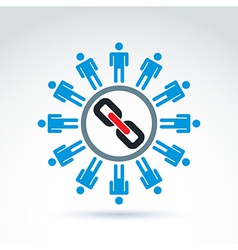 Icon networking vector