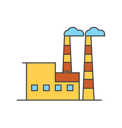 industrial building line icon concept industrial vector image