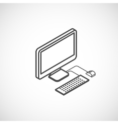 isometric icon of computer vector image